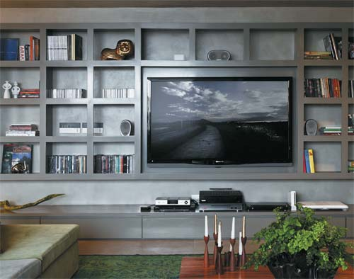 24 ideias para criar o seu home theater passeo. Black Bedroom Furniture Sets. Home Design Ideas