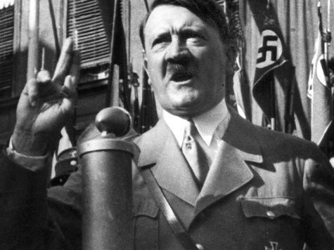Hitler giving the finger