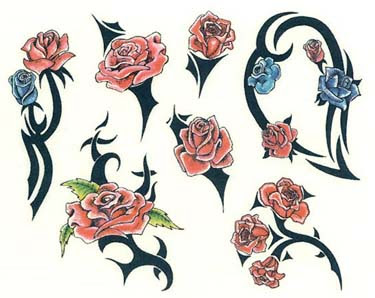 Tattoo Tribal Roses Designs