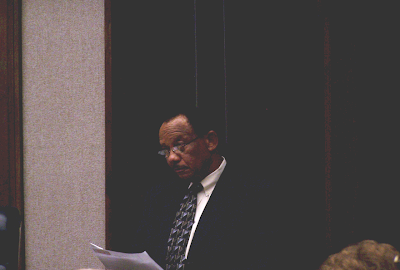 Mayor Evans makes his first report to the Council
