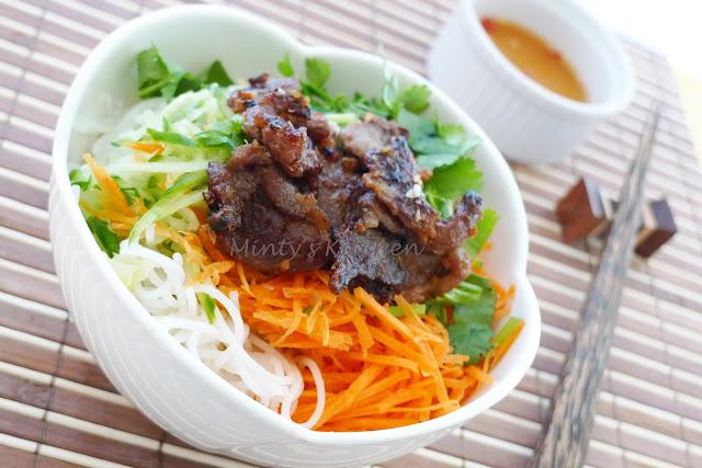 ... Kitchen: Vietnamese Cold Noodles Salad With Grilled Lemongrass Pork