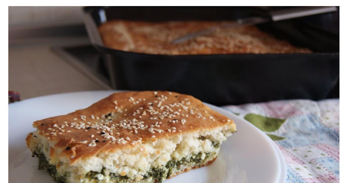 Пирог со шпинатом и яйцом рецепт фото