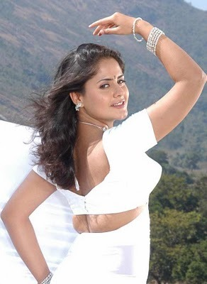 Hot Wallpapers: Mallu Aunty White Saree Cleavage