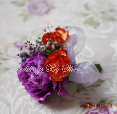 Purple Orange Wedding