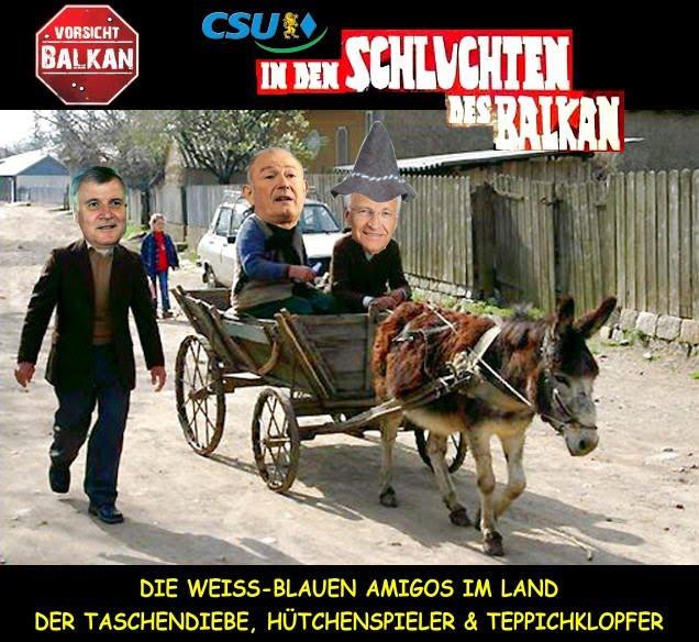 Amigo Edmund Stoiber, CSU kauft mit Gehilfen Günther Beckstein u. Horst Seehofer die am Balkan engagierte Hypo Group Alpe Adria (HGAA) für die BayernLB