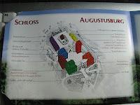 Plan vom Schloss Augustusburg