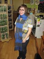 Kristin modeling the KSBNRAHP scarf