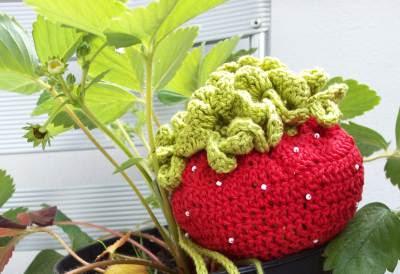 Häkelnetz Erdbeerform geschlossen