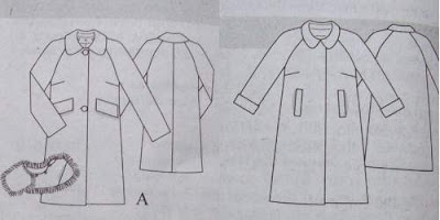 Schnittzeichnung Mantel A-Linie