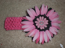 Crochet Style Headbands with Bow or Flower