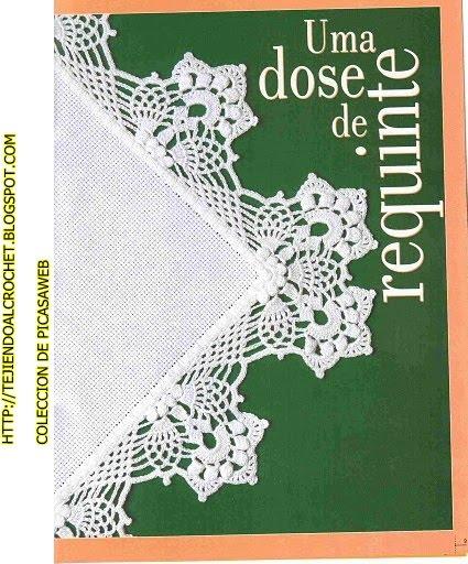 Patrones crochet ganchillo graficos graficos crochet ganchillo puntillas coleccion de - Bordure de finition au crochet ...