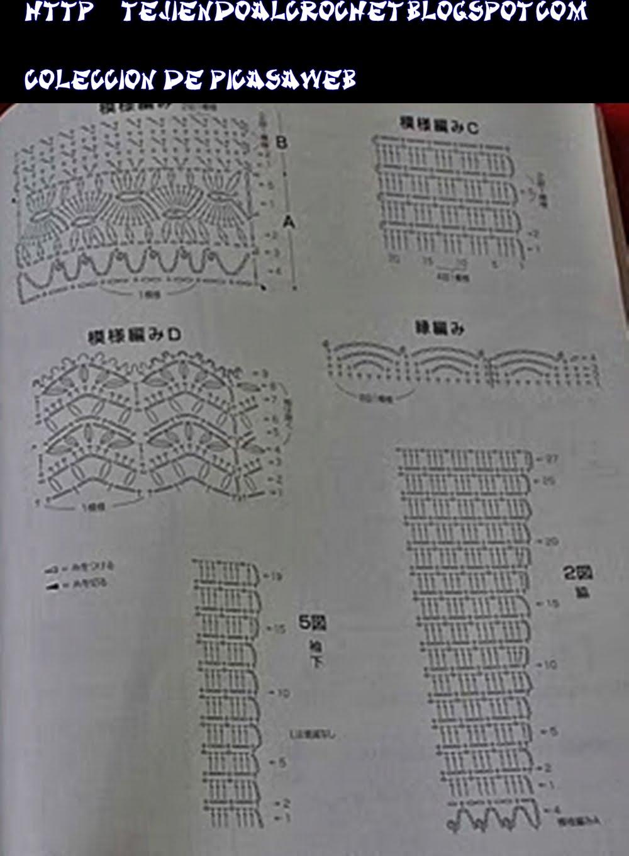 Trico y crochet madona ma esquemas de puntos para tejer - Puntos para tejer ...