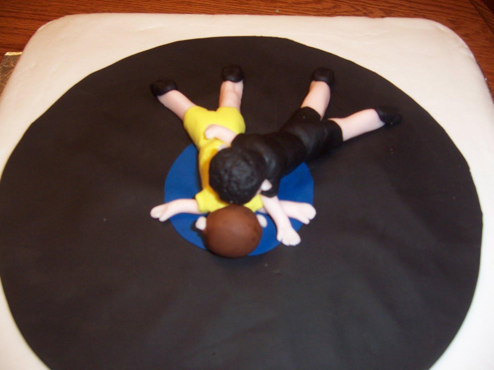 Cake Crazy Wrestling Birthday Cake