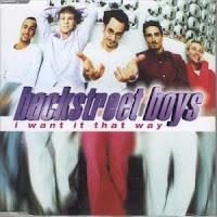 "90's Songs""I Want It That Way"" Backstreet Boys"