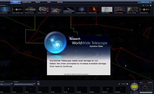 TOUR Microsoft WorldWide Telescope Web
