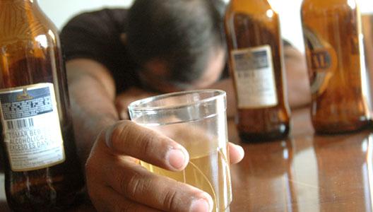La dependencia del alcohol de la pastilla
