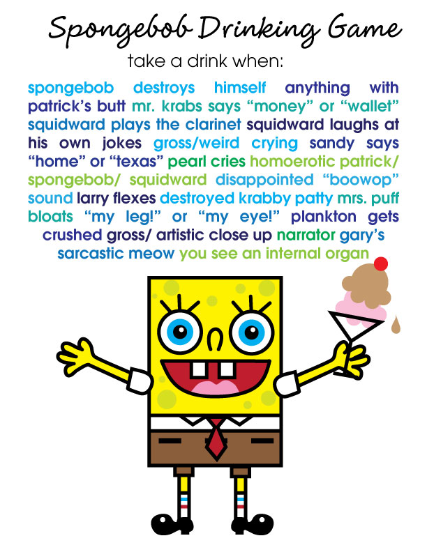Spongebob Squarepants Movie Drinking Game