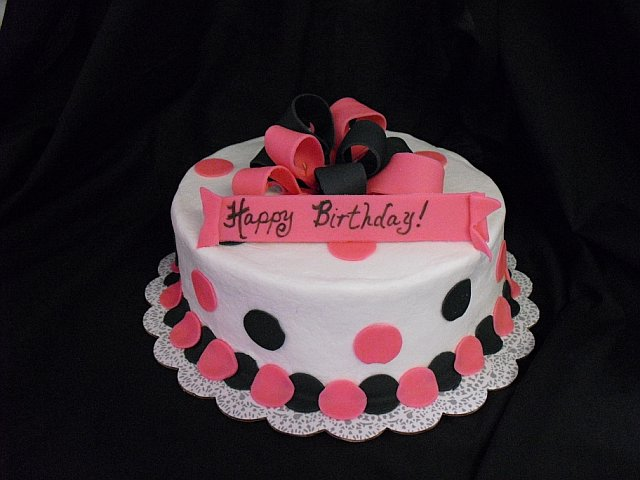 Homemade By Hope Pink And Black Birthday Cake