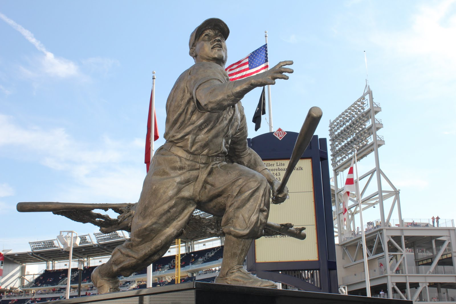 joltin joe an mlb stadium fan guide nationals park josh gibson statue