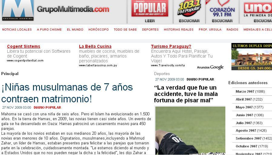 diario popular de asuncion paraguay: