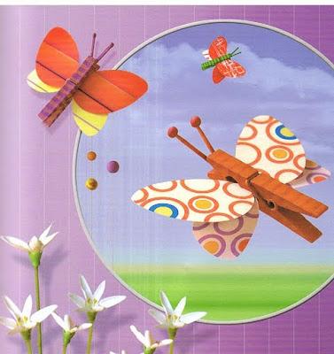 5. Весенние поделки своими руками можно изготовить из обыкновенных прищепок и бумаги.