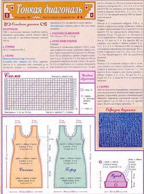 схема вязания платьица
