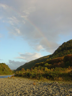 A rainbow over the Nature Reserve - where the river flows smoothly