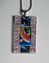 Koi Necklace with Vinage Look