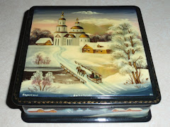 Mother Of Pearl Russian Lacquer Box Fedoskino