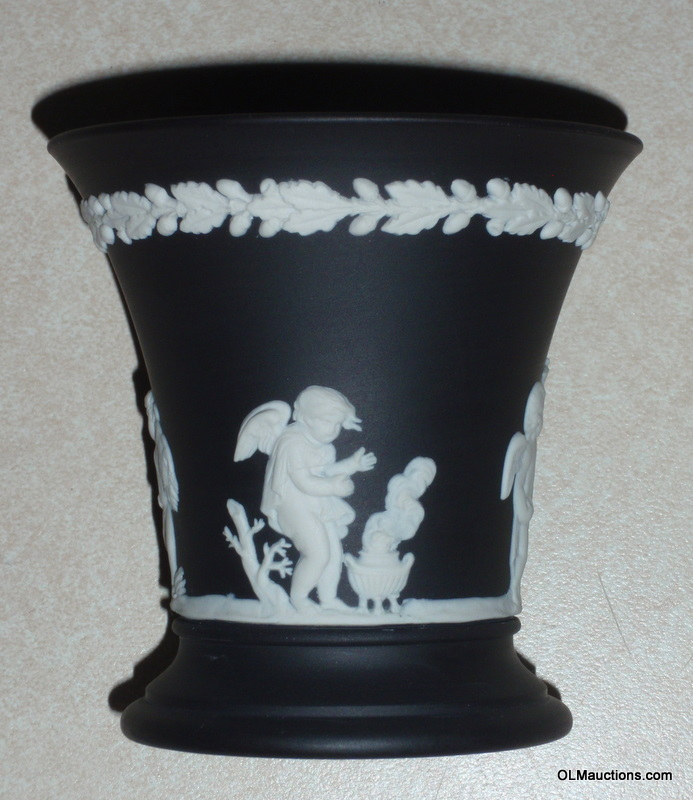 Wedgwood For Sale 3 12 Black Wedgwood Jasperware Vase