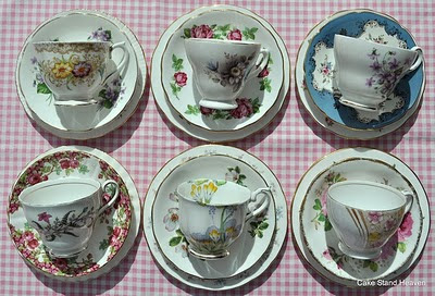 mix and match teacups saucers and side plates