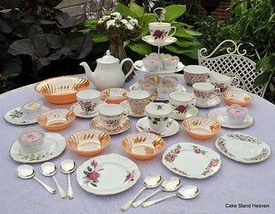 vintage tea and dessert set