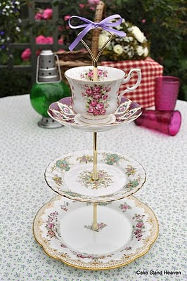 three tier vintage cake stand