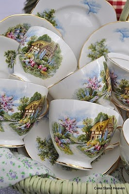 Country Cottage Teacups