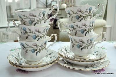 royal albert teacup stack