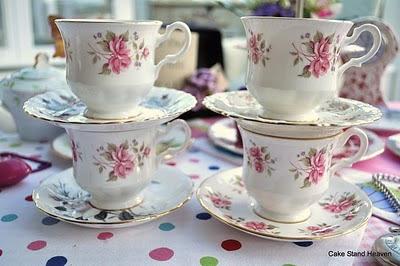 vintage pink teacups