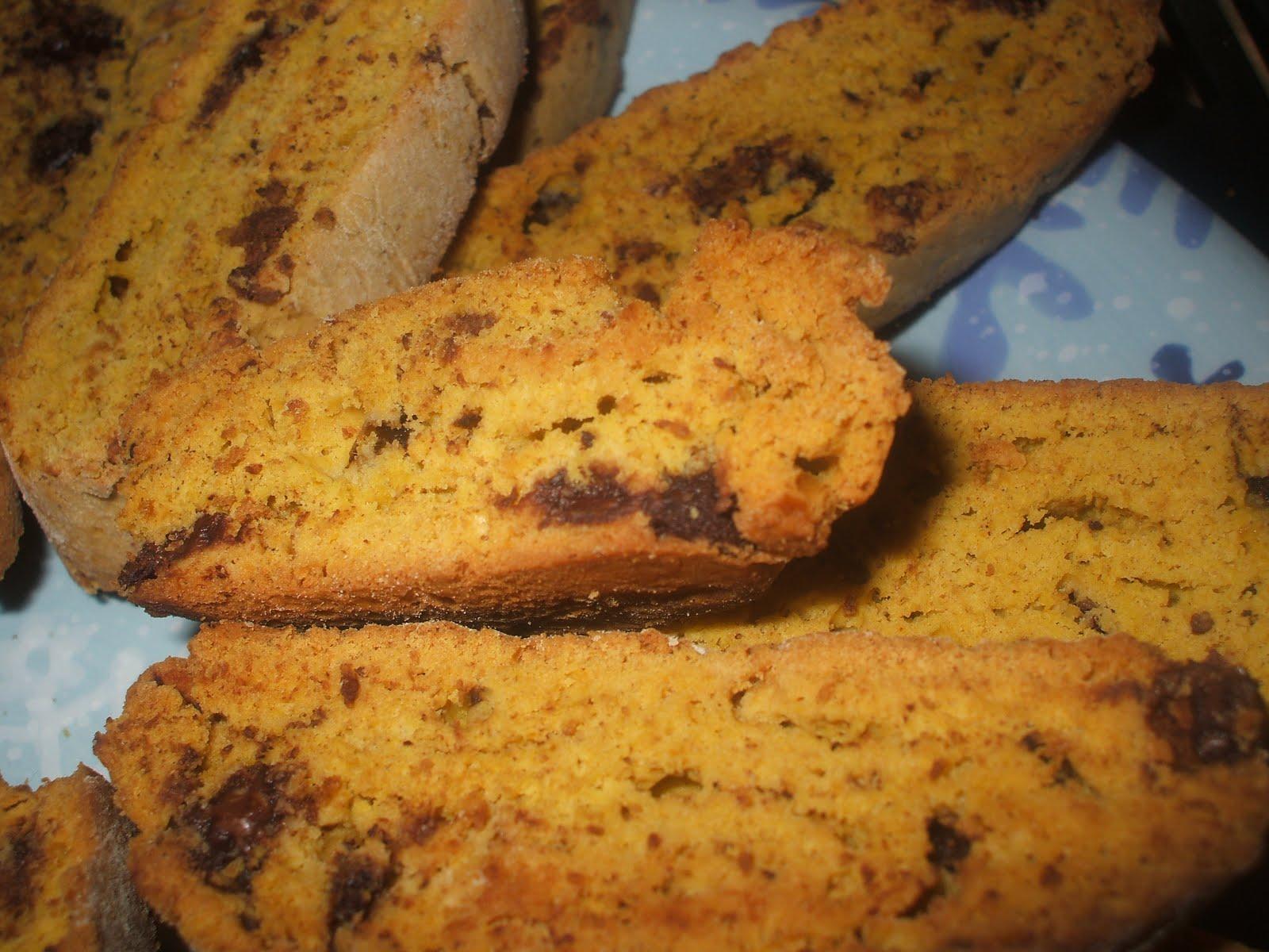 Yummies!: Pumpkin Chocolate Biscotti!