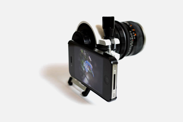 iPhone 4 x DSLR Lens