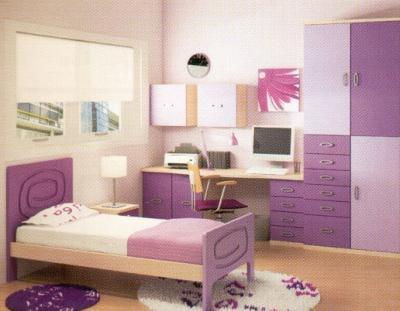Trendy home dormitorios for Cuartos de nina violeta
