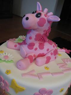 Sandys Cakes A GiraffaramaEmilys 1st Birthday Cake