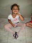 Roberta 6 anos bailarina do Projeto