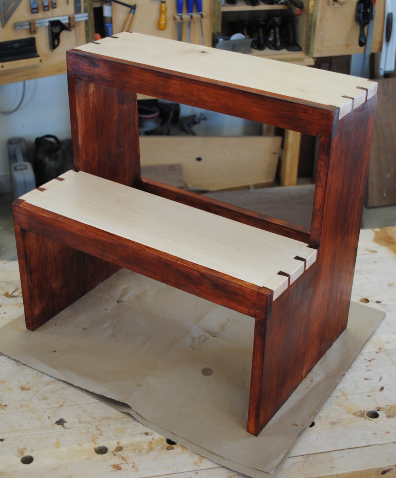 First Light Woodworking Unplugged Shaker Step Stool