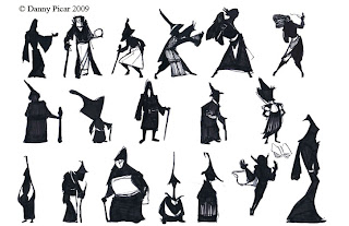 Mage Silhouettes On The White Background Royalty Free Cliparts ...