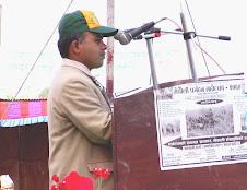 Giving Speech in Meghauli Tourism Festival