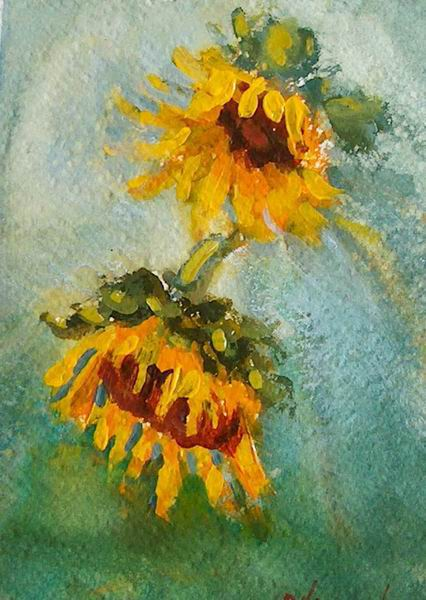 Susquehanna valley plein air painters sunflowers for How to paint sunflowers in acrylic