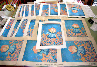 WoodBlock prints of LittleEve