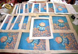 WoodBlock prints of LittleEve
