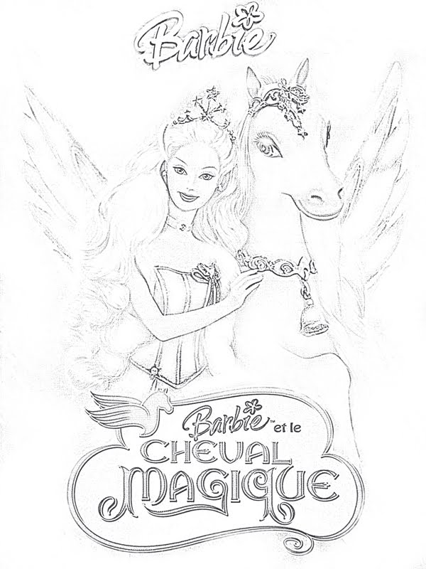 coloriage à imprimer barbie - Coloriages de Barbie sur coloriez