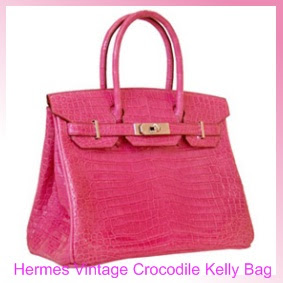 The House of Designer Handbags and Shoes: Hermes  Vintage Crocodile Kelly Handbags