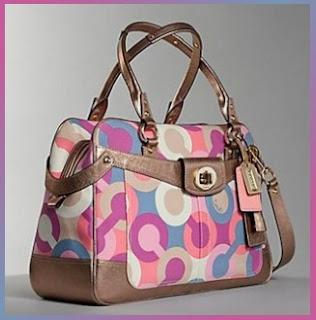 Designer's House: Coach Multicolor Penelope Op Art Travel Bag